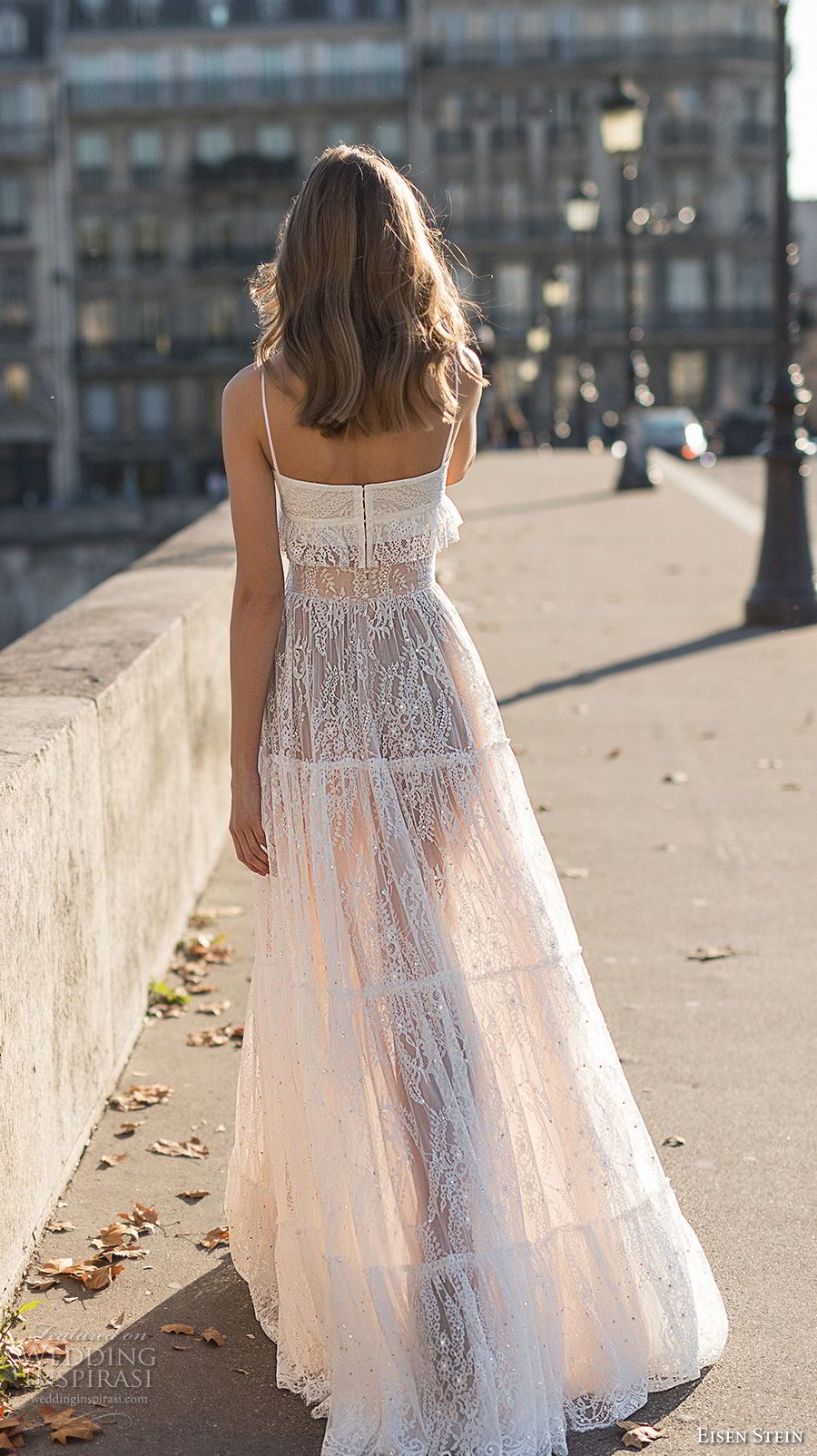 eisen stein 2018 bridal sleeveless spaghetti strap sweetheart neckline crop top full embellishment bohemian soft a  line wedding dress sweep train (13) bv