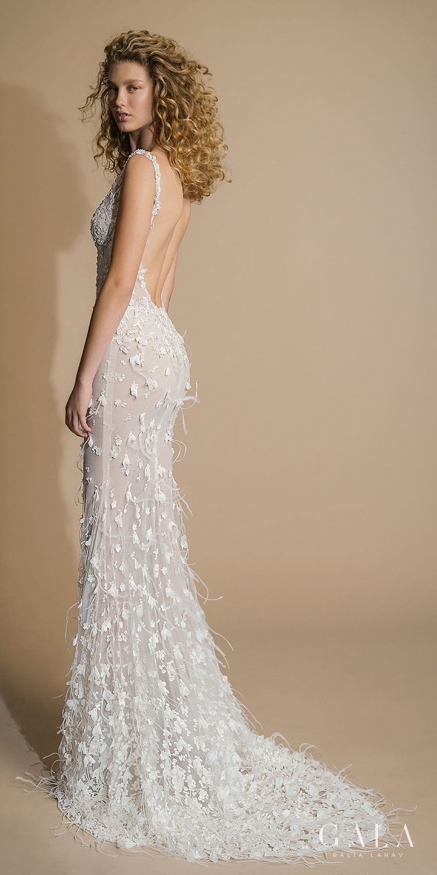 galia lahav gala 2019 bridal sleeveless with strap sheer bateau deep v neck full embellishment elegant fit and flare wedding dress low open back sweep train (108) bv