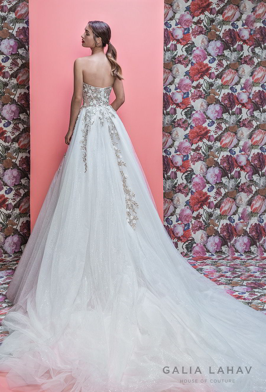 galia lahav spring 2019 bridal strapless sweetheart neckline heavily embellished bodice romantic pretty a line wedding dress royal train (aelin) bv