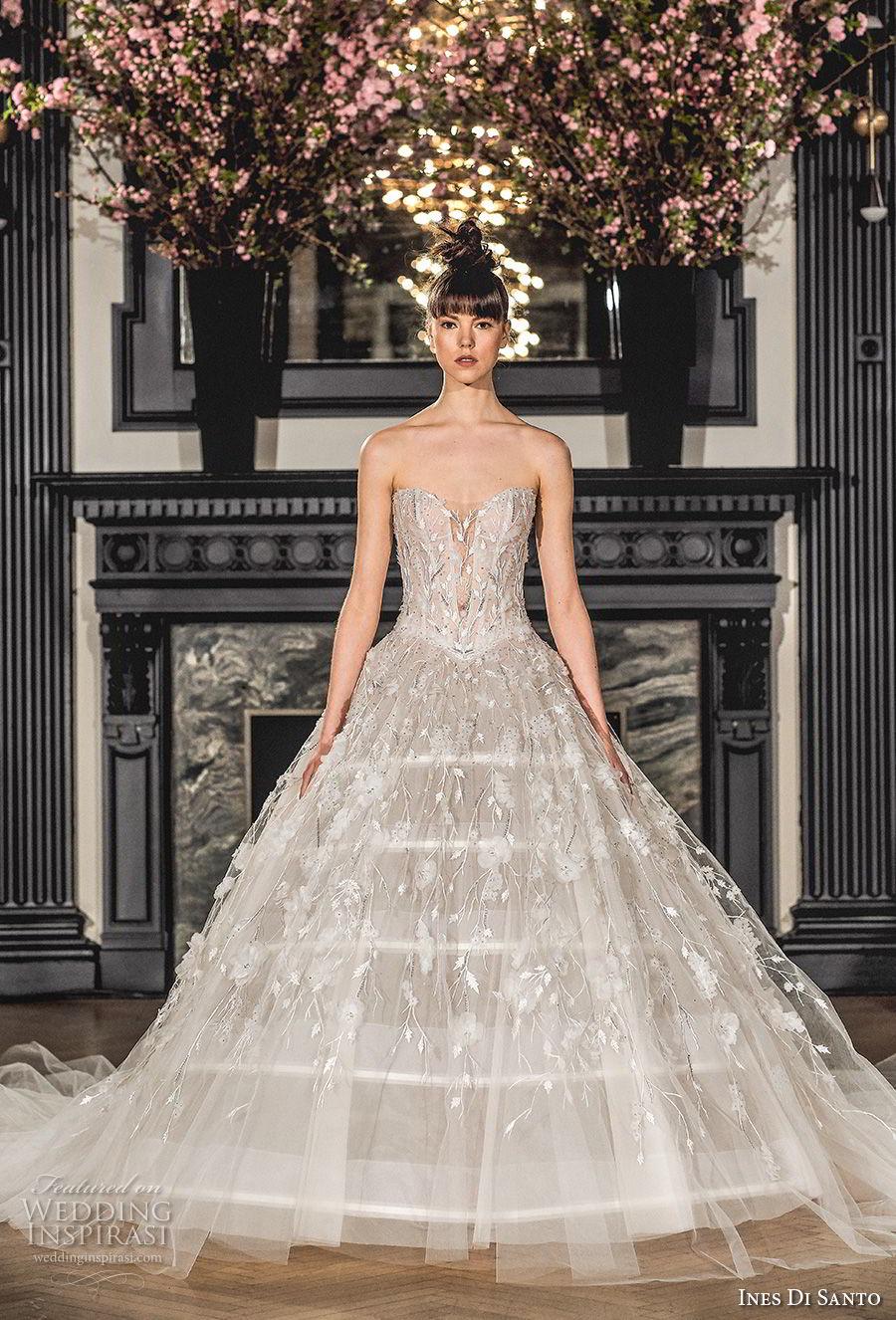 Ines di santo spring 2019 wedding dresses modern A line wedding dress 2019