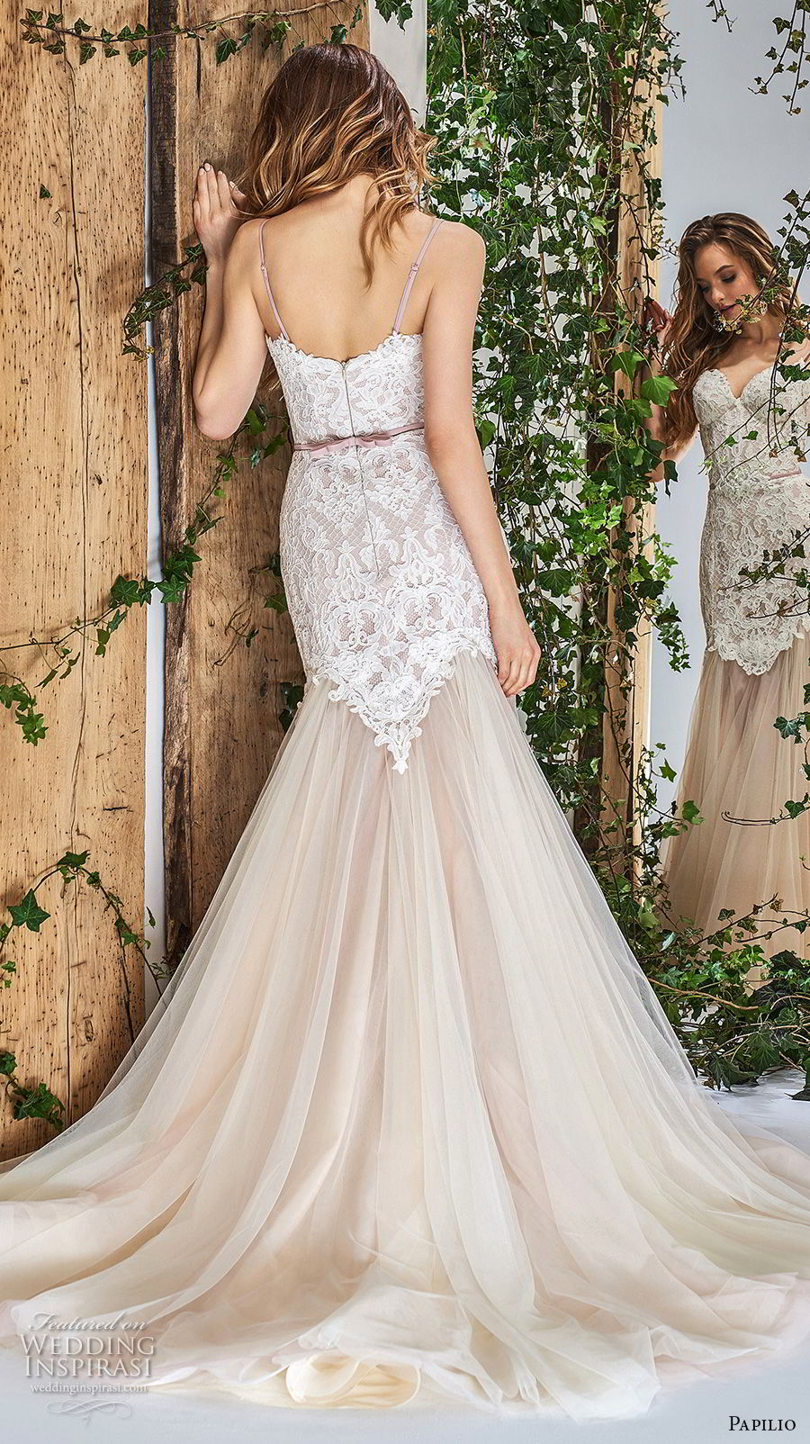 papilio 2018 bridal spaghetti strap sweetheart neckline heavily embellished bodice romantic mermaid wedding dress chapel train (13) bv
