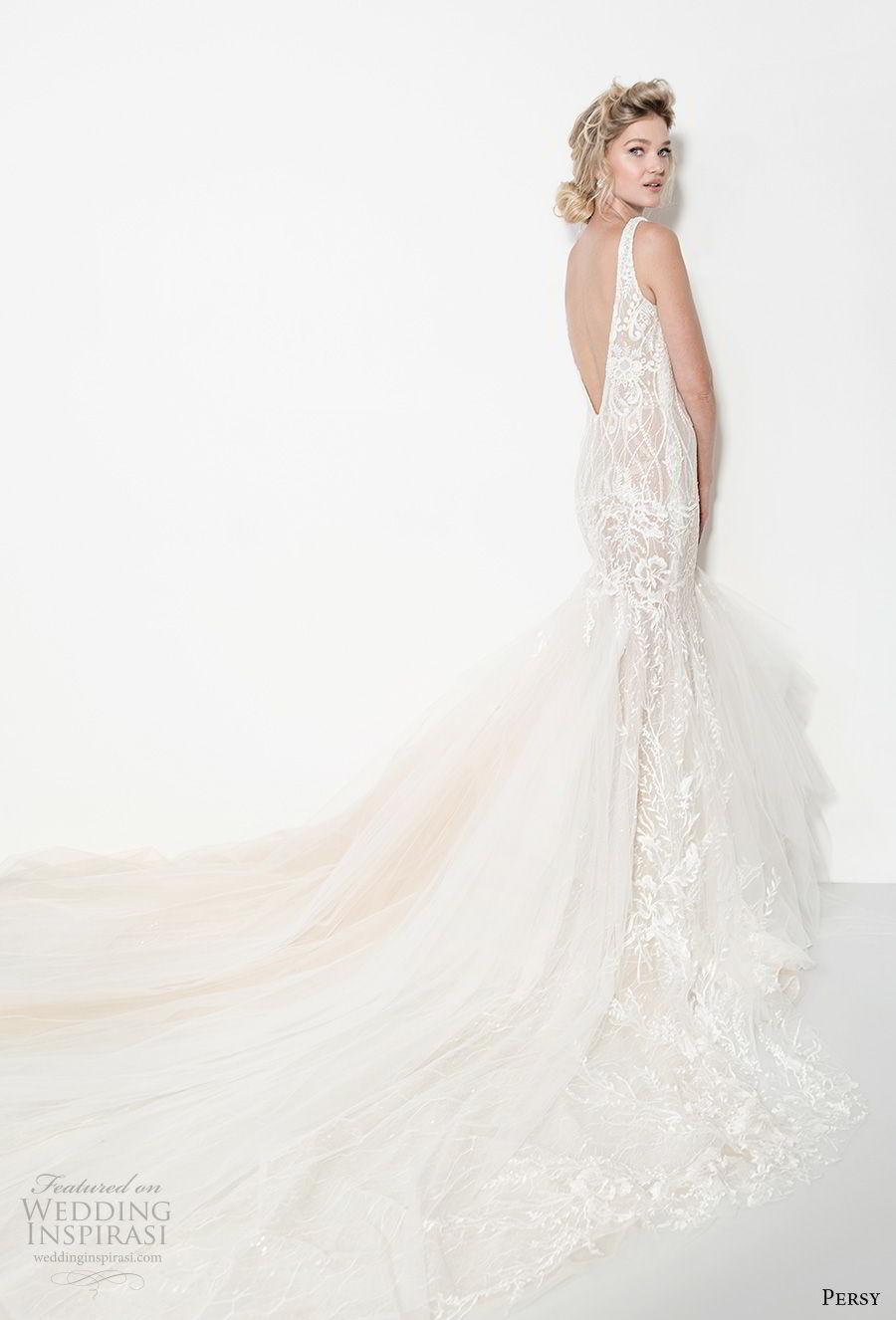 persy couture 2019 bridal sleeveless deep v neck full embellishment elegant sexy mermaid wedding dress open v back chapel train (6) bv