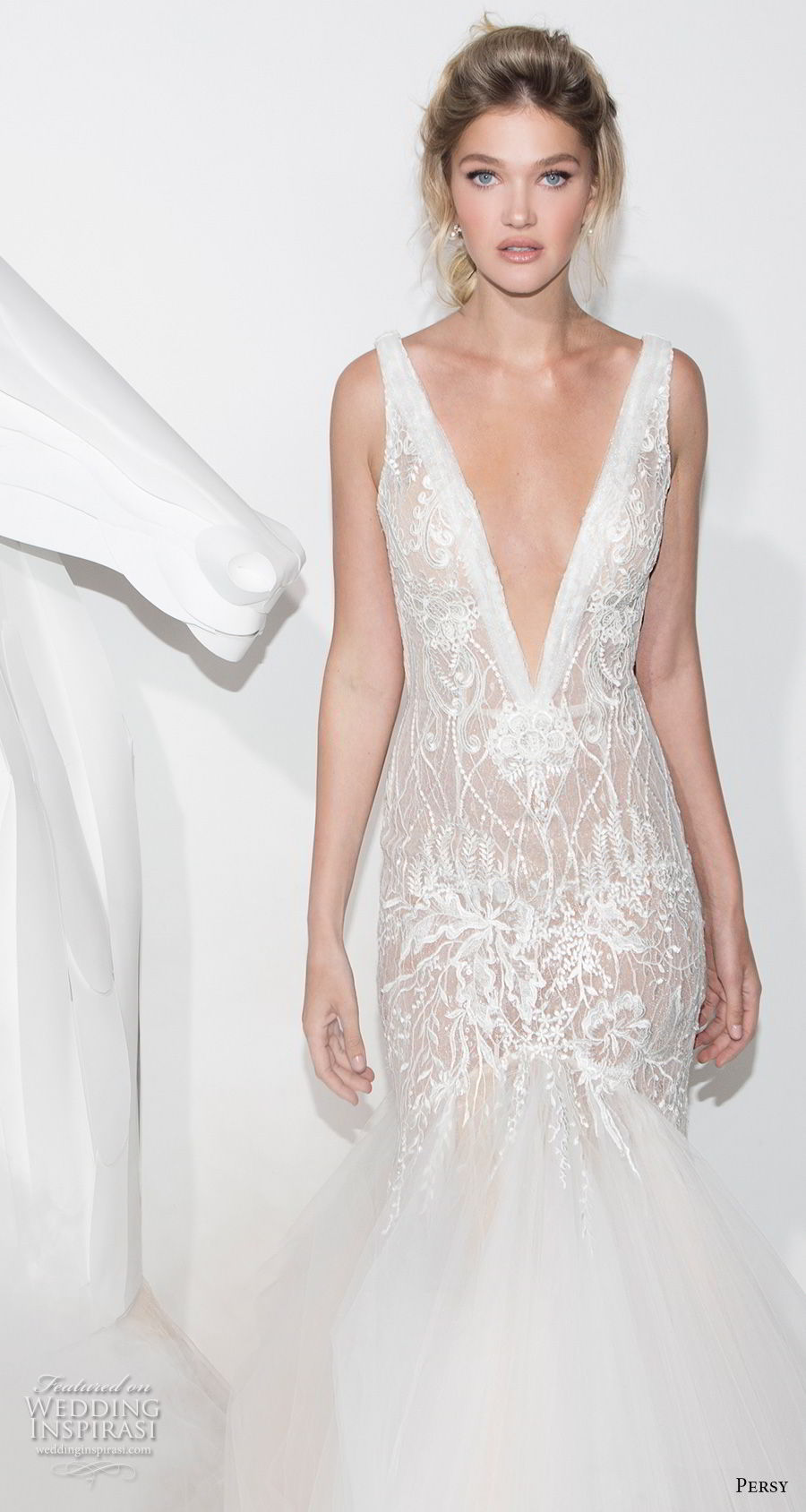 persy couture 2019 bridal sleeveless deep v neck full embellishment elegant sexy mermaid wedding dress open v back chapel train (6) zv