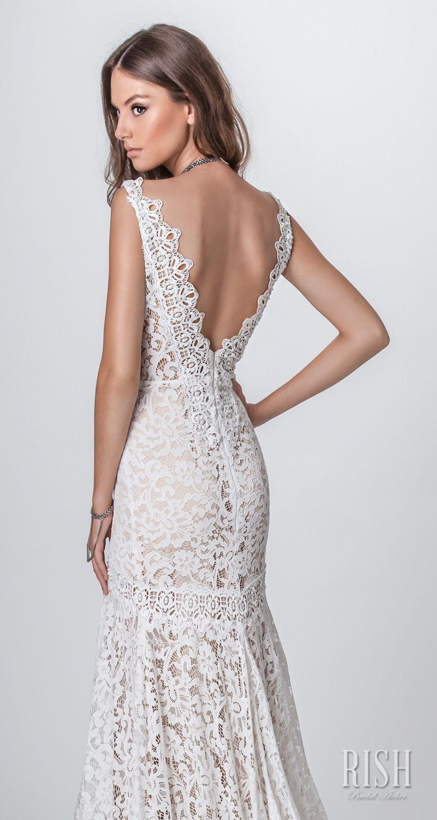 rish bridal sun dance 2018 sleeveless deep v neck full embellishment elegant fit and flare wedding dress open v back chapel train (nina) zbv