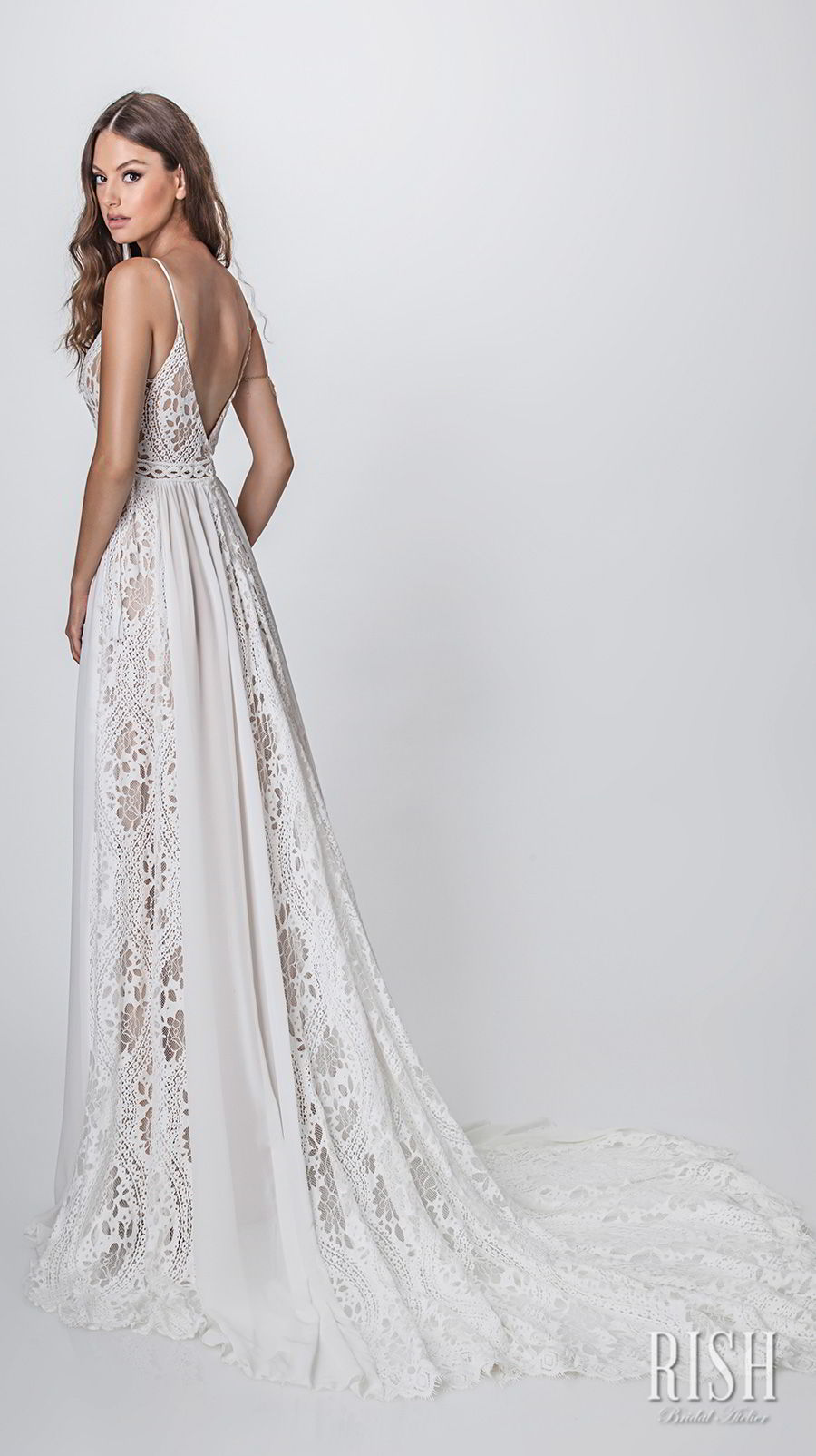 rish bridal sun dance 2018 sleeveless spaghetti strap sweetheart neckline full embellishment romantic bohemian soft a  line wedding dress open v back chapel train (sierra) bv
