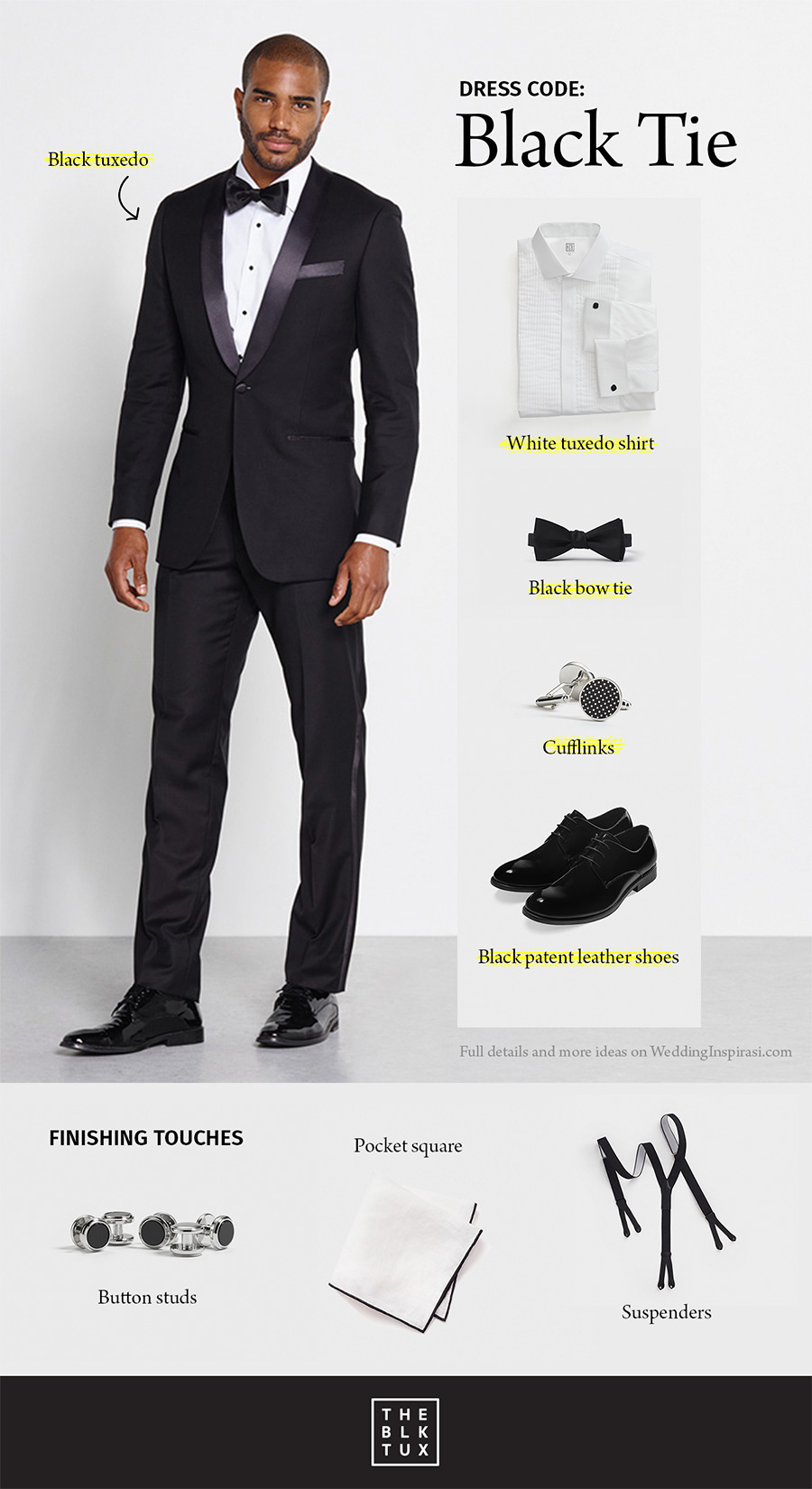 The Black Tux Wedding Dress Code Tie Modern Style Suit Tuxedo Al Service