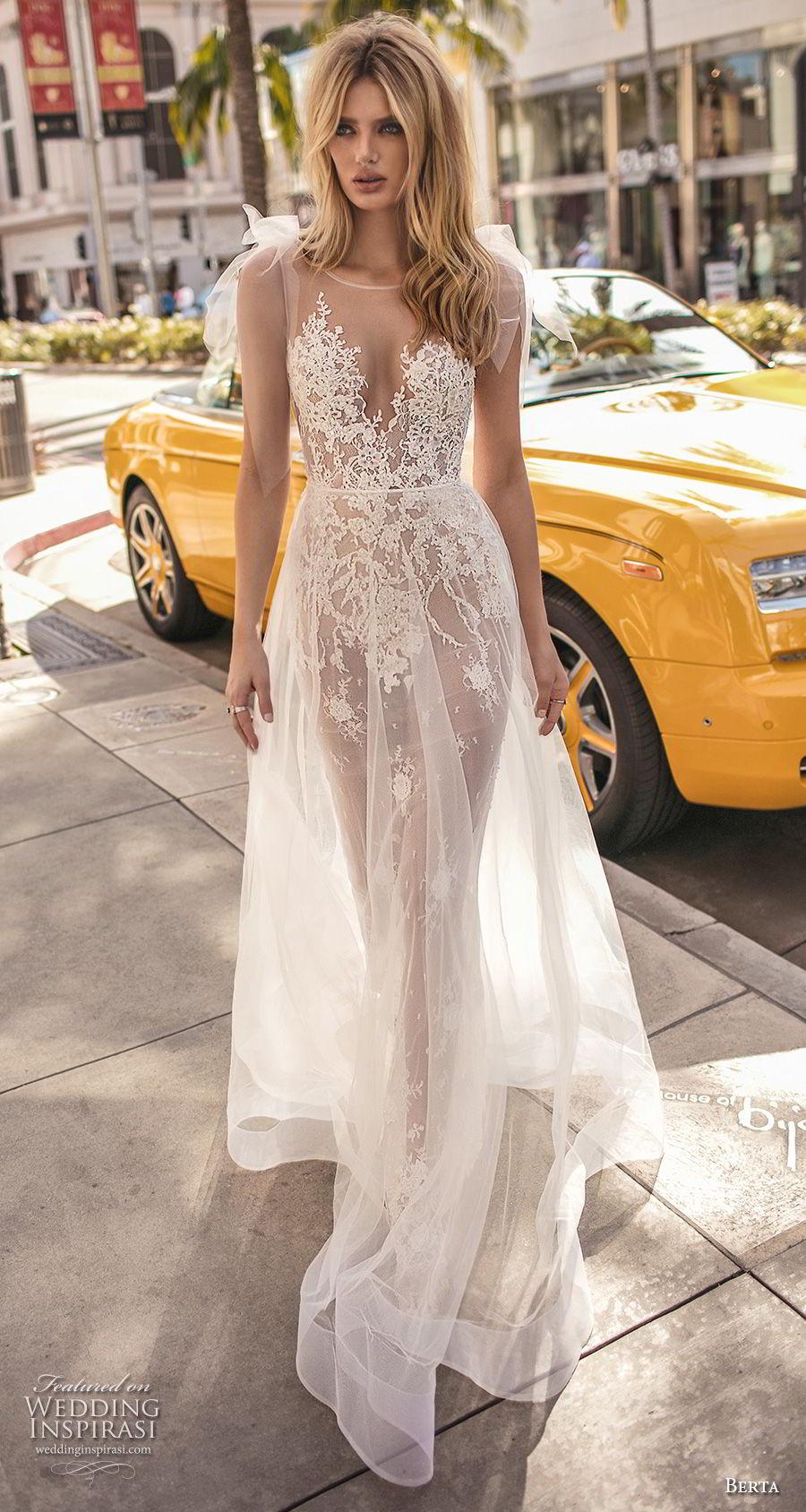 berta 2019 muse bridal sleeveless illusion jewel sweetheart neckline heavily embellished bodice romantic sheer button back sweep train (5) mv