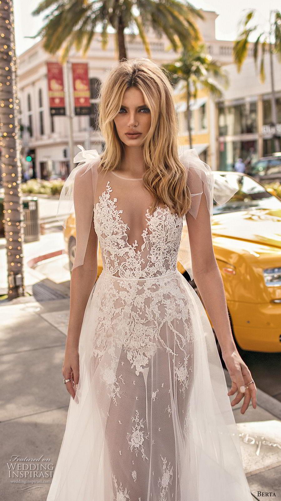 berta 2019 muse bridal sleeveless illusion jewel sweetheart neckline heavily embellished bodice romantic sheer button back sweep train (5) zv
