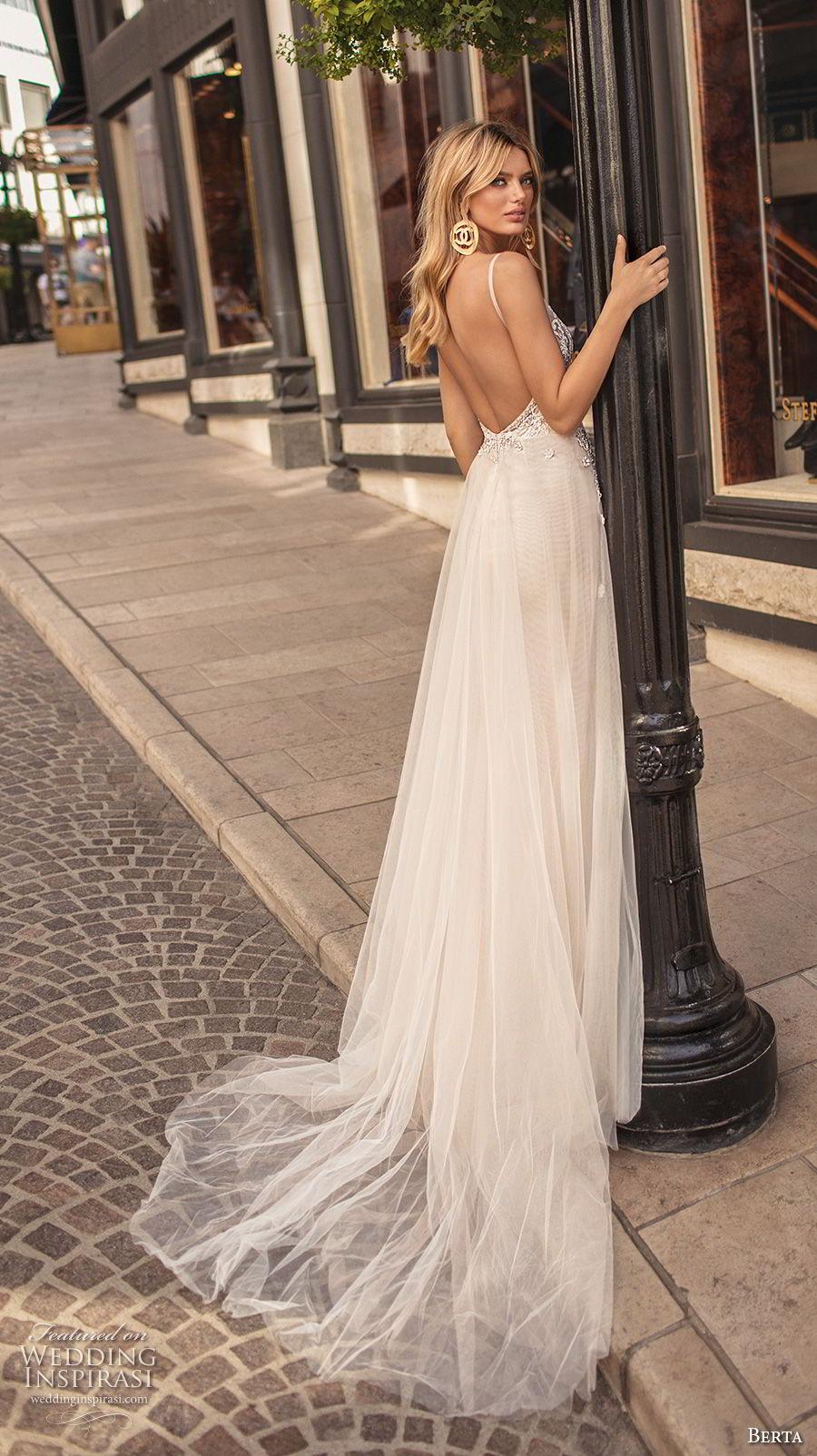 berta 2019 muse bridal sleeveless spaghetti strap deep v neck heavily embellished bodice romantic sexy soft a  line wedding dress open back chapel train (9) bv
