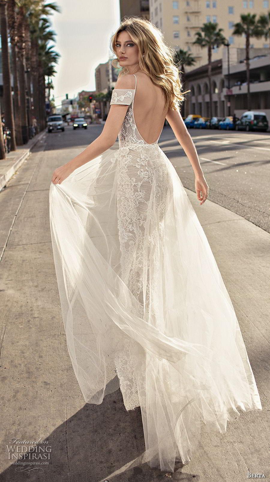 berta 2019 muse bridal spaghetti strap cold shoulder v neck full embellishment romantic soft a  line wedding dress scoop back sweep train (1) bv