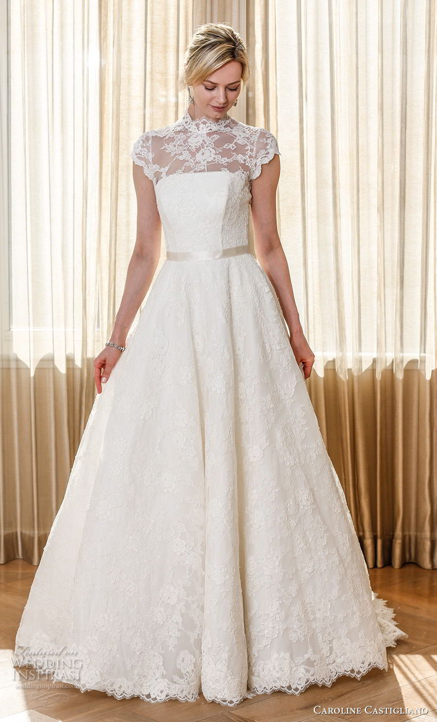 2019 Lace Long Sleeve Vintage A Line Party Dress: Caroline Castigliano 2019 Wedding Dresses