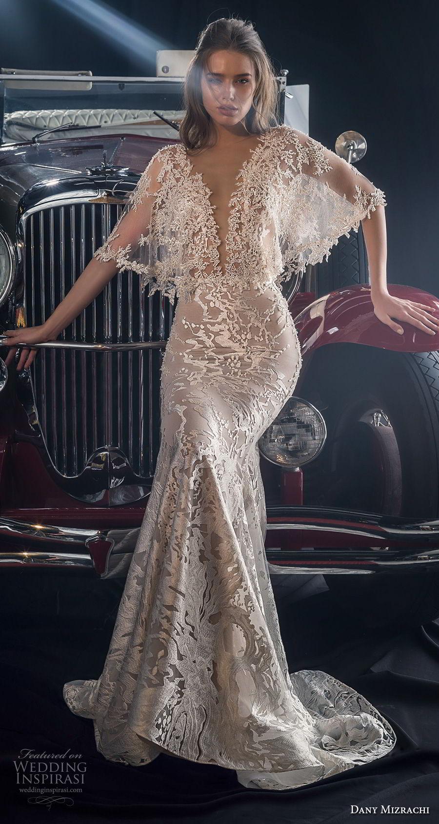 Dany mizrachi fall 2018 wedding dress wedding inspirasi for Butterfly back wedding dress