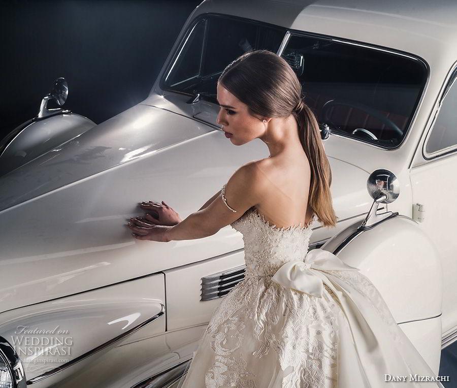 dany mizrachi fall 2018 bridal off the shoulder sweetheart neckline heavily embellished bodice princess glitzy ball gown wedding dress a  line overskirt chapel train (1) zbv