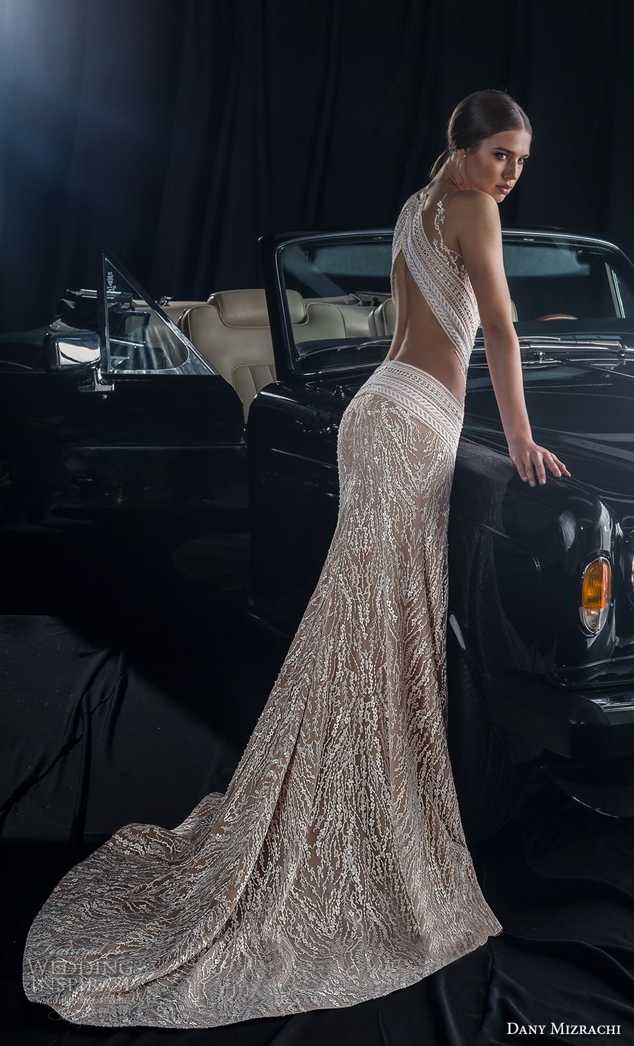 dany mizrachi fall 2018 bridal sleeveless sheer jewel sweetheart neckline full embellishment slit skirt glamorous sexy fit and flare wedding dress keyhole back sweep train (8) bv
