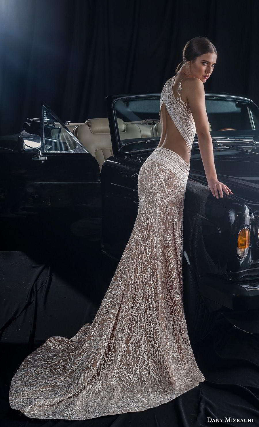 dany mizrachi fall 2018 bridal sleeveless sheer jewel sweetheart neckline full embellishment slit skirt glamorous sexy fit and flare wedding dress keyhole back sweep train (8) bv