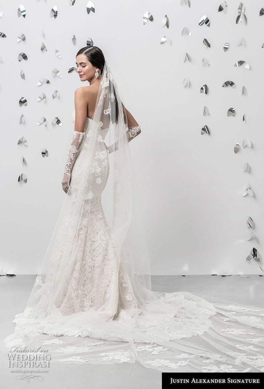 justin alexander fall 2018 signature strapless sweetheart neckline full embellishment elegant fit and flare wedding dress chapel train (17) bv