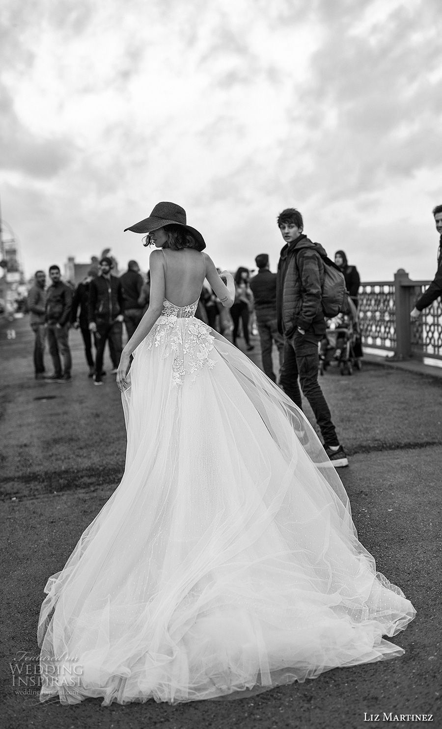 liz martinez 2019 bridal sleeveless thin strap sweetheart neckline heavily embellished bodice tulle skirt romantic a  line wedding dress open back chapel train (2) bv mv