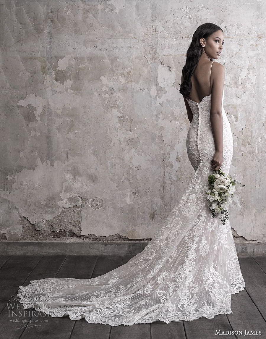 madison james fall 2018 bridal spaghetti strap sweetheart neckline full embellishment elegant romantic fit and flare wedding dress chapel train (14) bv