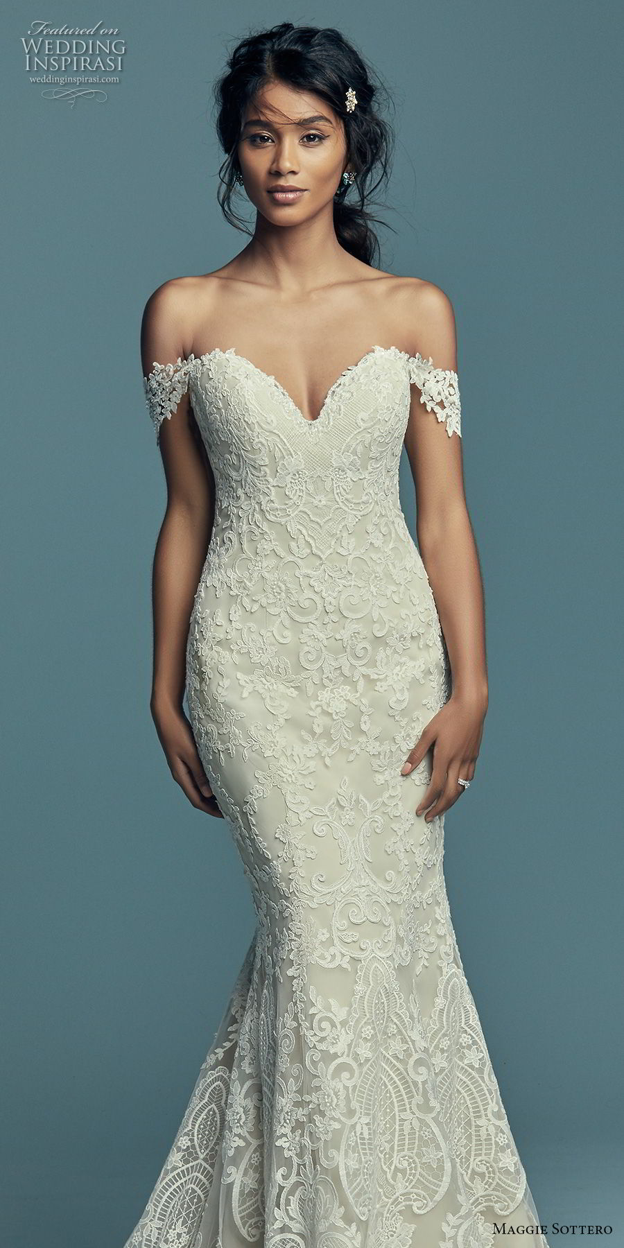 a895502a716fe9 maggie sottero fall 2018 bridal off the shoulder sweetheart neckline full  embellishment elegant romantic fit and