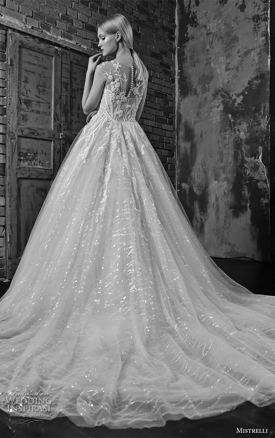 5570f2ce361 mistrelli 2019 bridal cap sleeves sweetheart neckline heavily embellished  bodice romantic princess ball gown a line