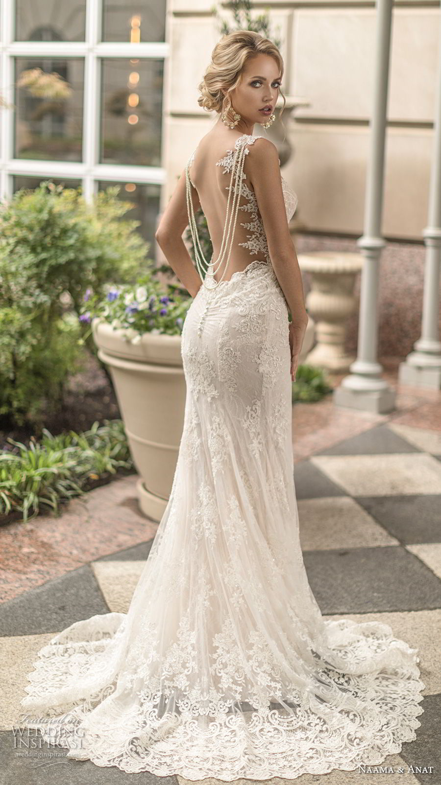 naama anat spring 2019 bridal sleeveless embellished strap sweetheart neckline full embellishment elegant fit and flare mermaid wedding dress open low back sweep train (2) bv
