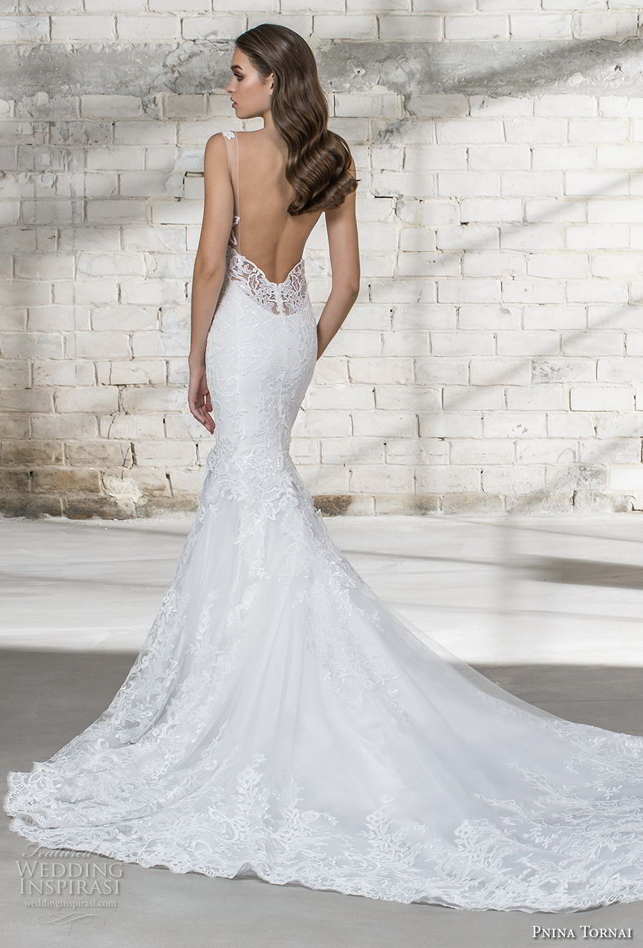 pnina tornai 2019 love bridal sleeveless deep v neck full embellishment elegant mermaid wedding dress open back chapel train (8) bv