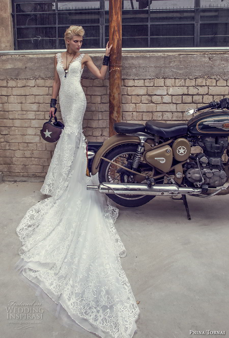 pnina tornai 2019 love bridal sleeveless deep v neck full embellishment elegant mermaid wedding dress open back chapel train (8) mv