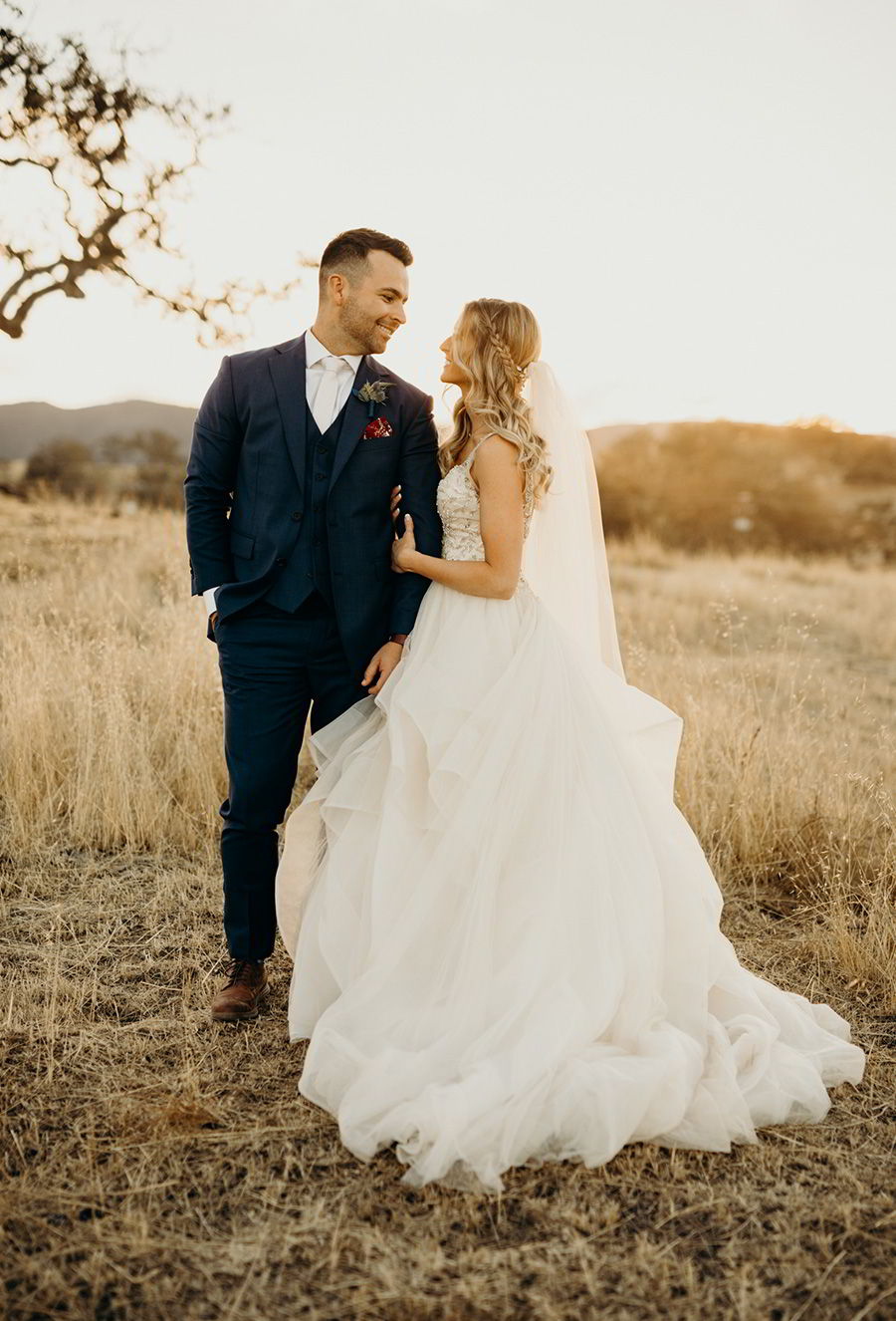 sottero midgley 2018  gold dress (amelie) sleeveless illusion vneck ball gown wedding dress colegarrettphotography photo bride melissa navy suit groom mv