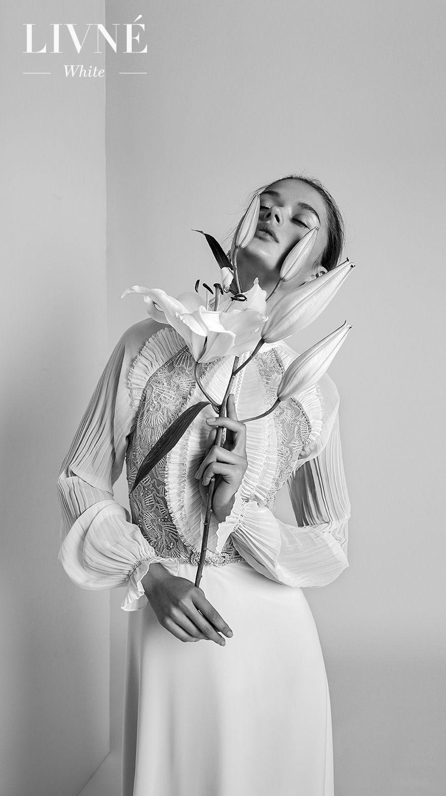 alon livne 2018 2019 white bridal long poet sleeves high neck heavily embellished bodice vintage sheath wedding dress (violet) mv