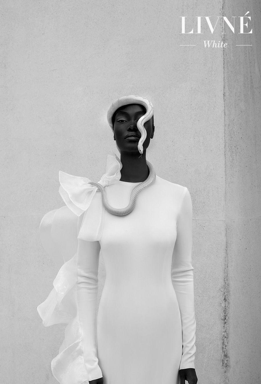 alon livne 2018 2019 white bridal long sleeves jewel neck clean simple minimalist elegant modern sheath wedding dress (melissa) mv