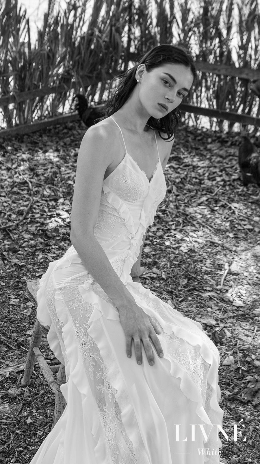 alon livne 2018 2019 white bridal sleeveless spaghetti strap sweetheart neckline elegant bohemian modified wedding dress (clara) mv