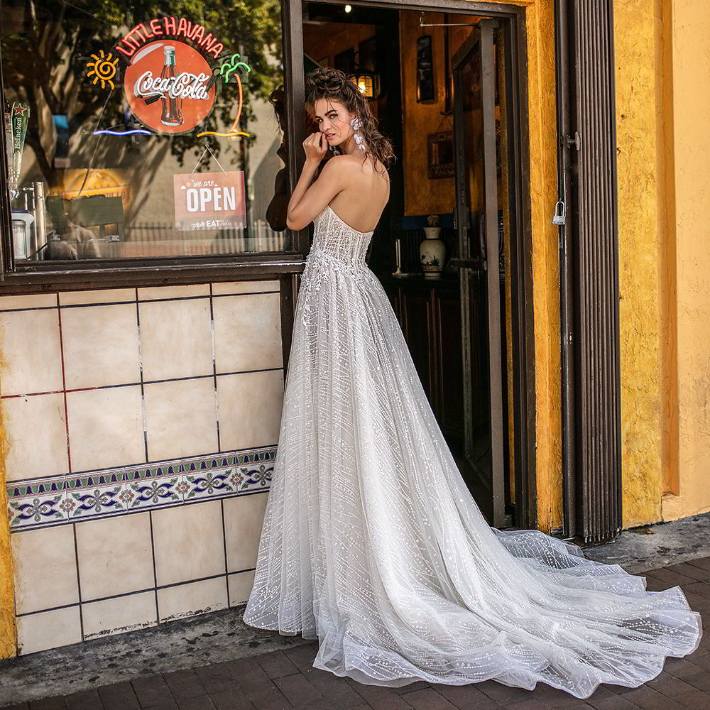 "b02b76702f Berta Spring 2019 Wedding Dresses — ""Miami"" Bridal Collection ..."
