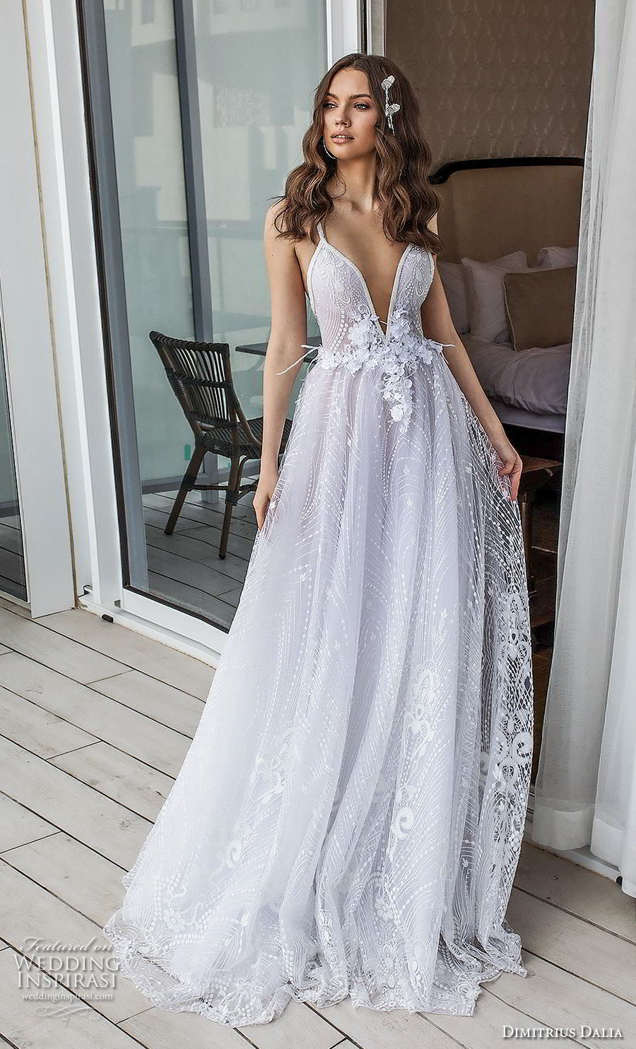 dimitrius dalia 2018 royal sleeveless thn strap deep sweetheart neckline full embellishment romantic sexy soft a line wedding dress open back sweep train (9) mv