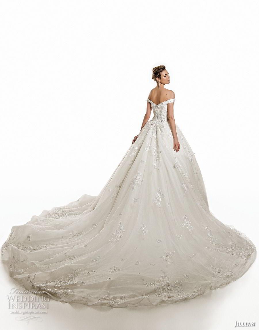 jillian 2019 bridal off the shoulder sweetheart neckline heavily embellished bodice princess romantic ball gown wedding dress royal train (2) bv