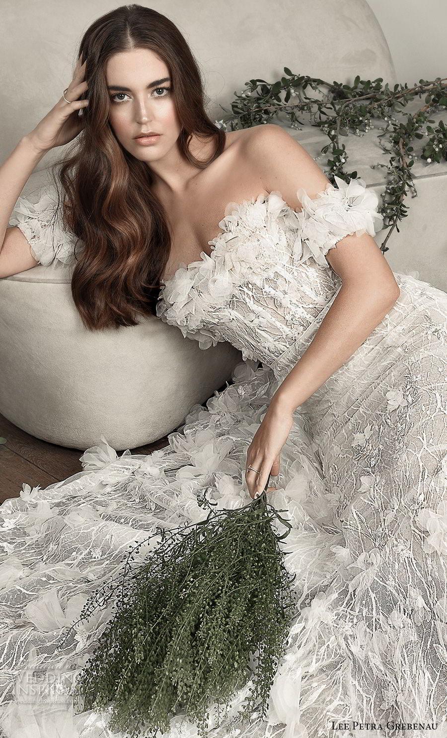 2408186160e8 lee petra grebenau pre 2019 bridal off the shoulder straight across  neckline full embellishment romantic a