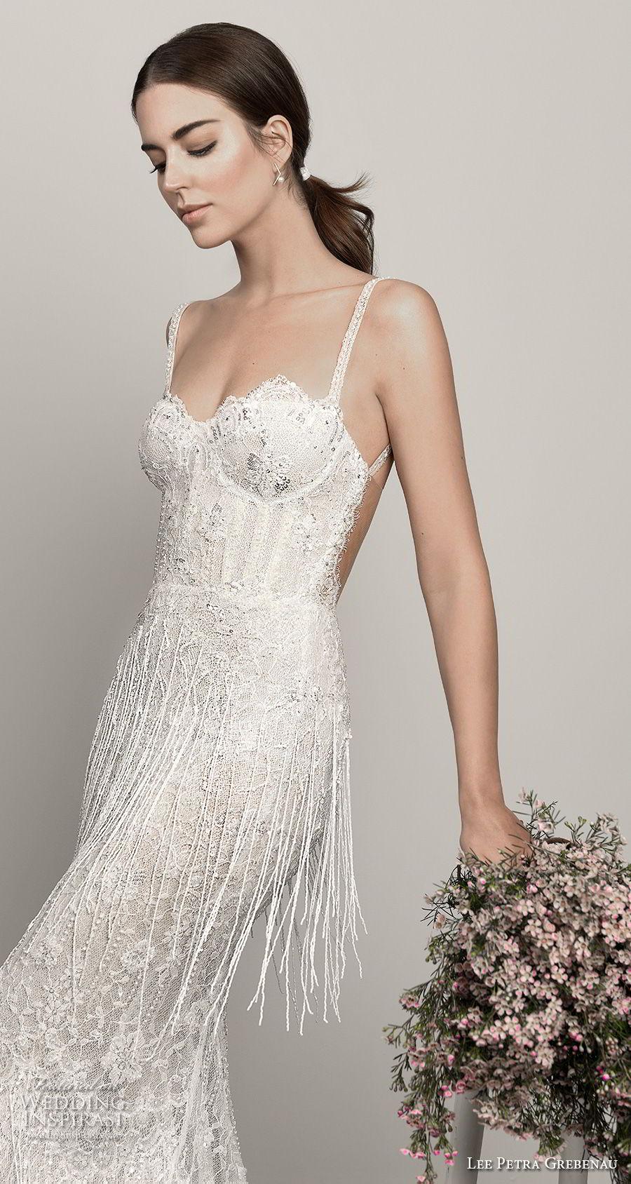 lee petra grebenau pre 2019 bridal sleeveless thin strap sweetheart neckline full embellishment bustier fit and flare wedding dress open back (6) mv