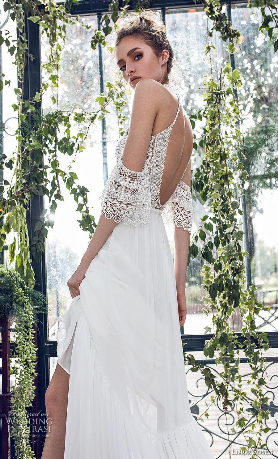limor rosen 2019 xo bridal cold soulder halter jewel neck heavily embellished bodice romantic soft a  line wedding dress open back medium train (10) zbv