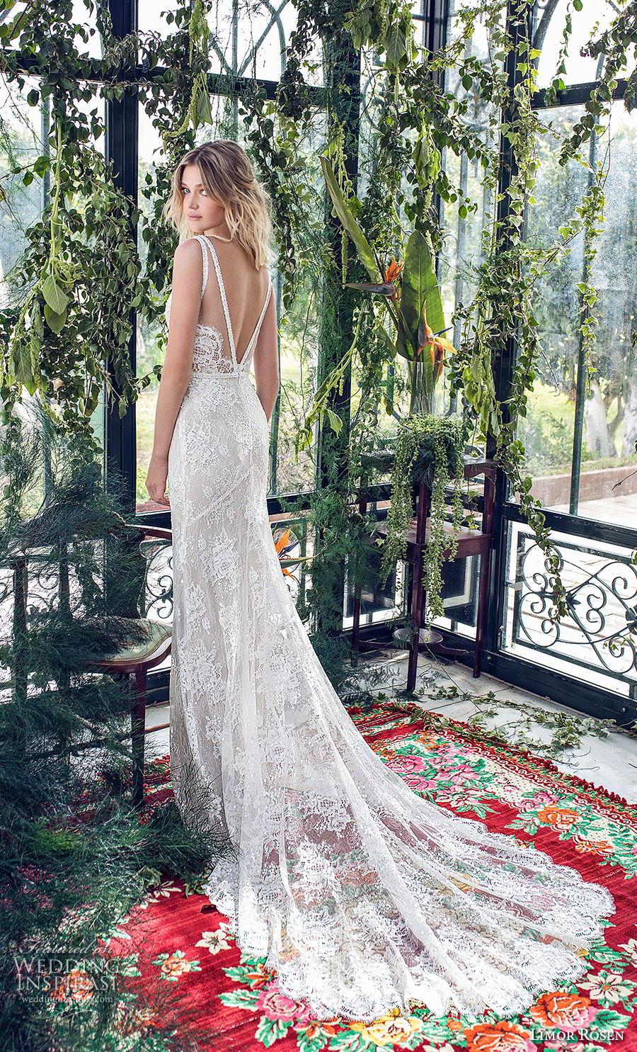 limor rosen 2019 xo bridal sleeveless deep v neck full embellishment open side elegant fit and flare wedding dress open back chapel train (11) bv