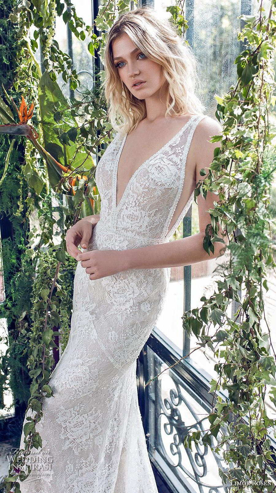limor rosen 2019 xo bridal sleeveless deep v neck full embellishment open side elegant fit and flare wedding dress open back chapel train (11) zv mv