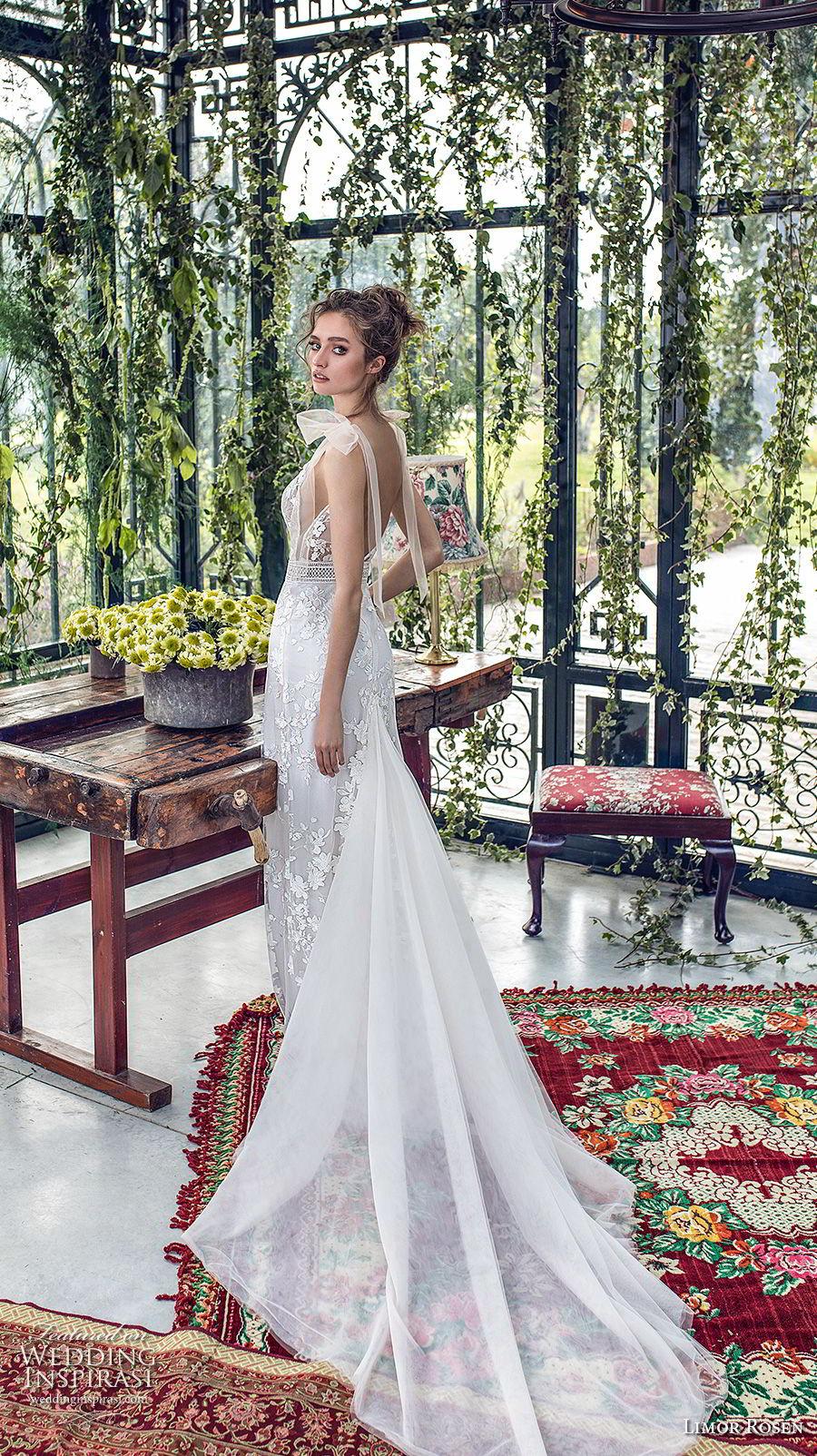 limor rosen 2019 xo bridal sleeveless deep v neck full embellishment romantic fit and flare wedding dress open back chapel train (9) bv