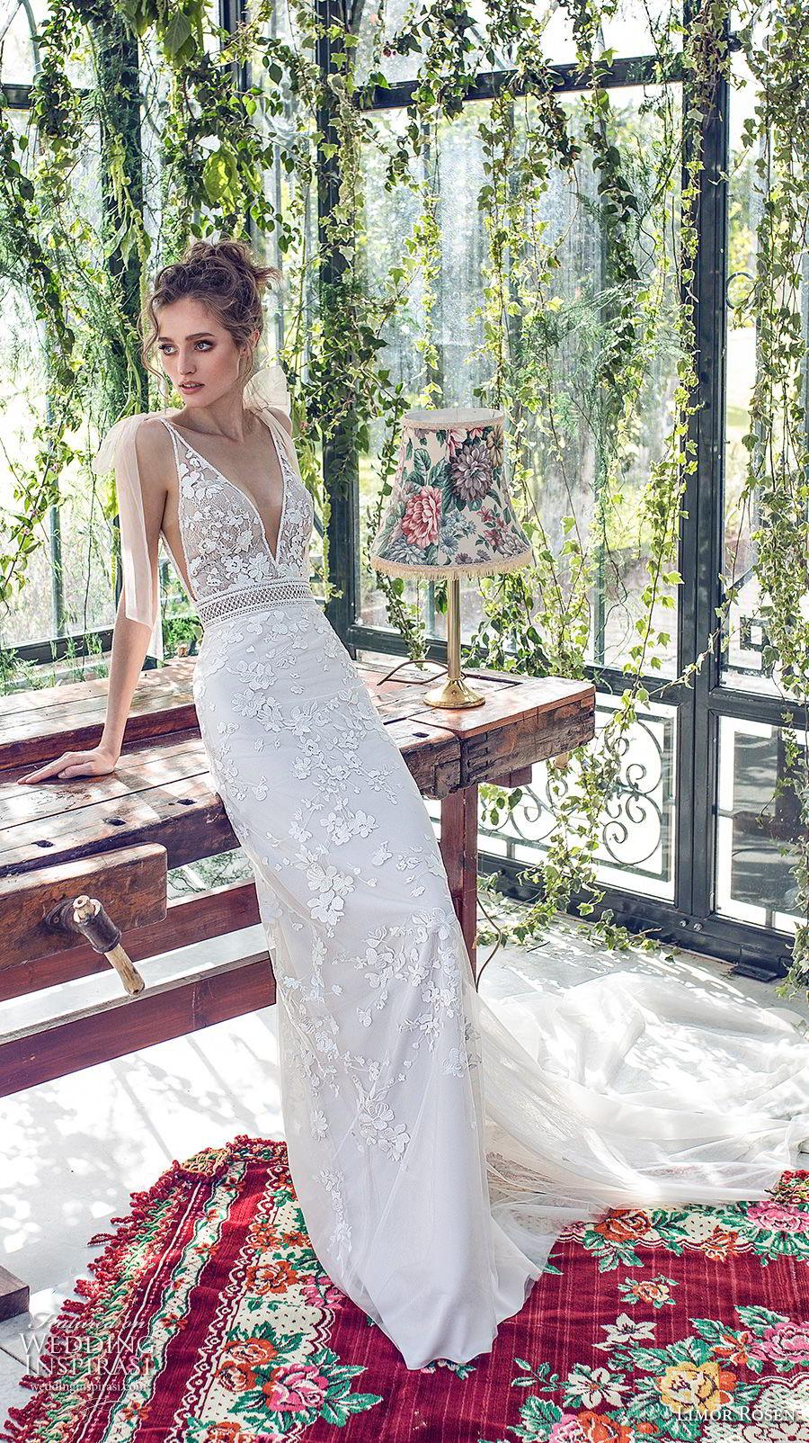 limor rosen 2019 xo bridal sleeveless deep v neck full embellishment romantic fit and flare wedding dress open back chapel train (9) mv