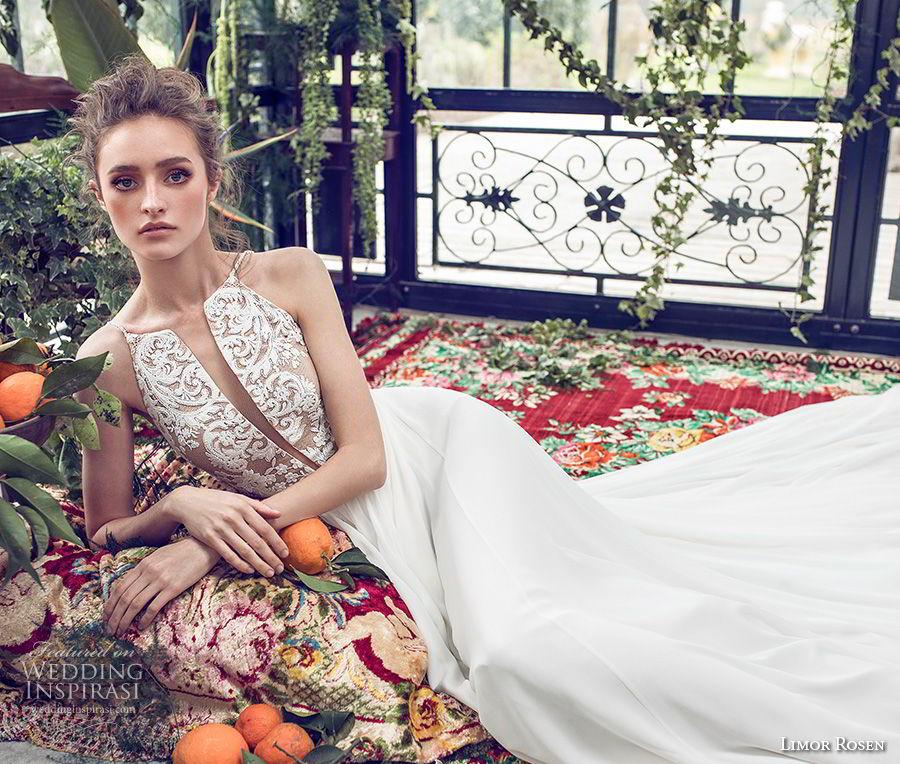 limor rosen 2019 xo bridal sleeveless halter neck deep plunging v neck heavily embellished romantic bodice a  line wedding dress (7) zv