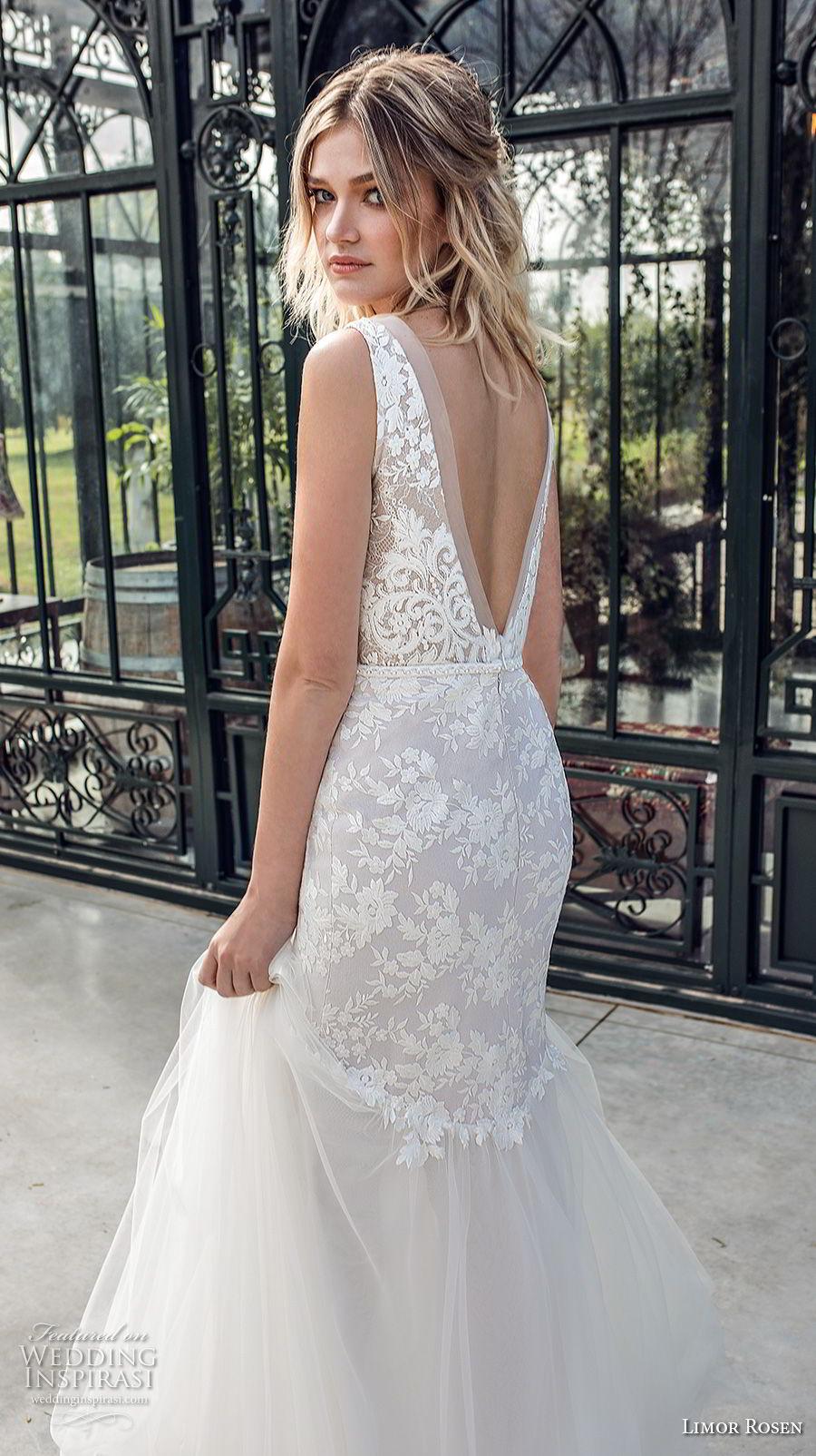 limor rosen 2019 xo bridal sleeveless v neck heavily embellished bodice elegant mermaid wedding dress open v back (5) bv