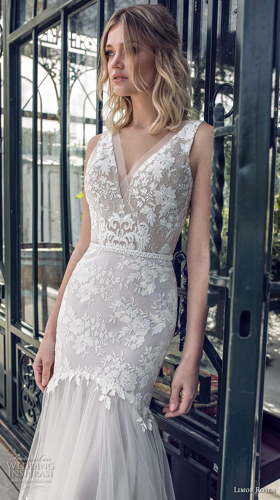 limor rosen 2019 xo bridal sleeveless v neck heavily embellished bodice elegant mermaid wedding dress open v back (5) zv mv