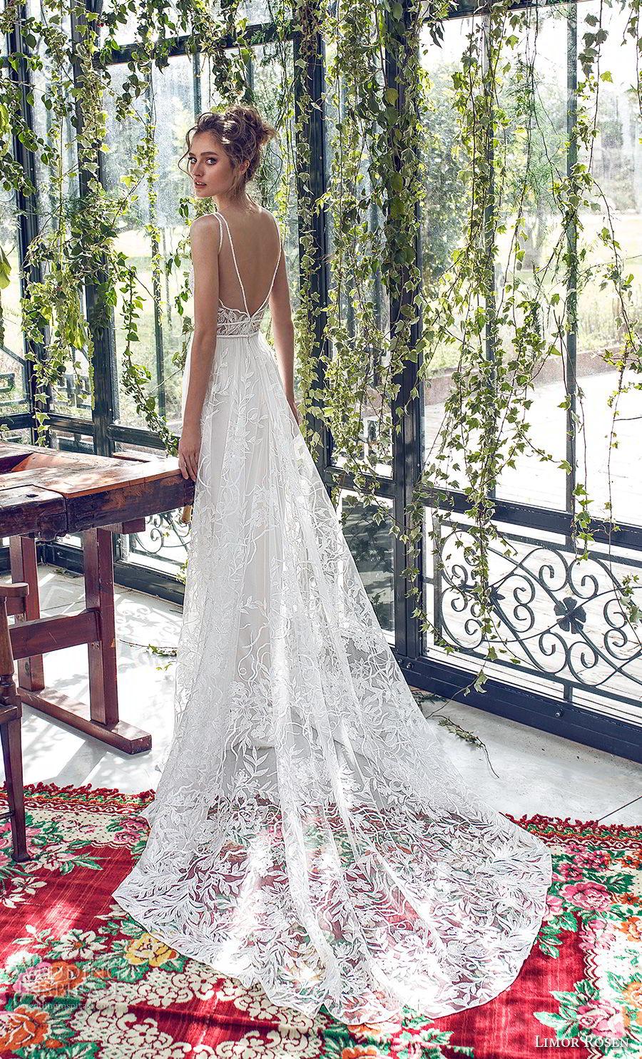 limor rosen 2019 xo bridal sleeveless with strap deep v neck full embellishment romantic soft a  line wedding dress open back chapel train (4) bv