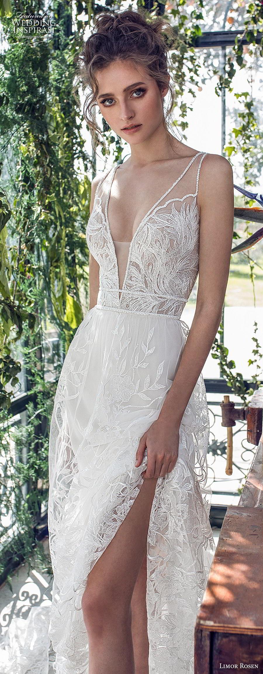 limor rosen 2019 xo bridal sleeveless with strap deep v neck full embellishment romantic soft a  line wedding dress open back chapel train (4) lv