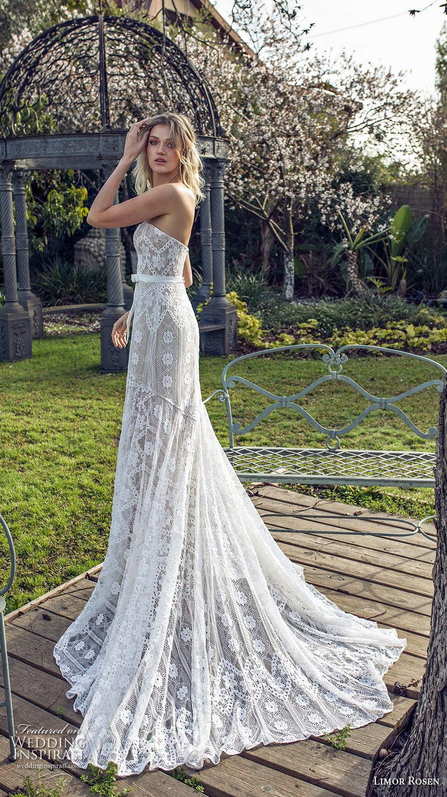 limor rosen 2019 xo bridal strapless sweetheart neckline full embellishment slit skirt romantic trumpet wedding dress chapel train (13) sdv