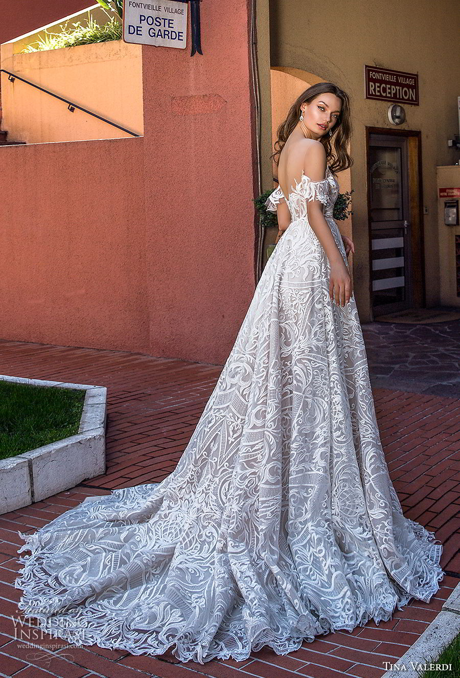 tina valerdi 2019 bridal off the shoulder sweetheart neckline full embellishment princess ball gown a line wedding dress chapel train (3) bv