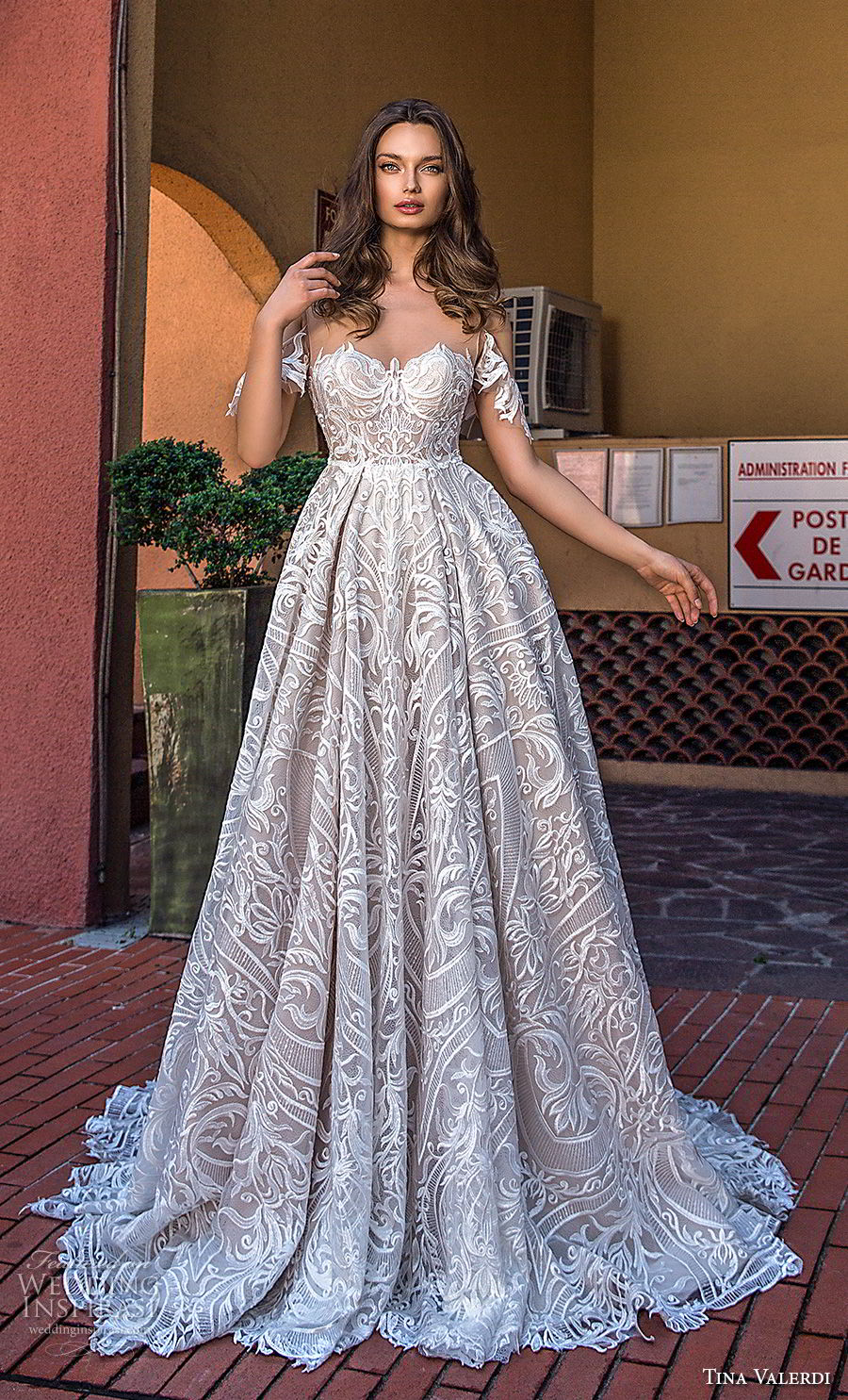tina valerdi 2019 bridal off the shoulder sweetheart neckline full embellishment princess ball gown a line wedding dress chapel train (3) mv