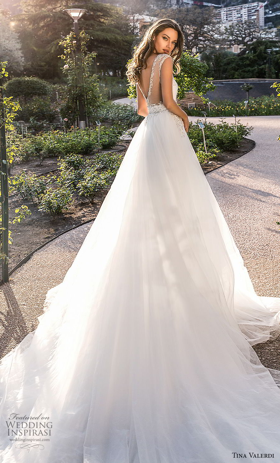 tina valerdi 2019 bridal sleeveless illusion bateau sweetheart neckline heavily embellished bodice ball gown a line wedding dress v back long train (5) bv